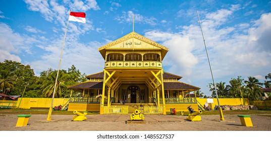 Pontianak, Indonesia : Kadriah Palace (Istana Kadrriah), a heritage and histoical building, royal palace of Pontianak Kindom, a popular tourist destination in Pontianak (08/2019).