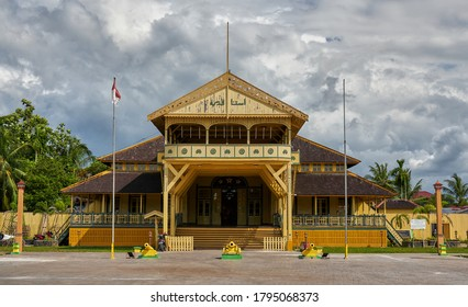 Pontianak, West Kalimantan, Borneo, Indonesia 13.08.2020: Kadriah Palace in Pontianak