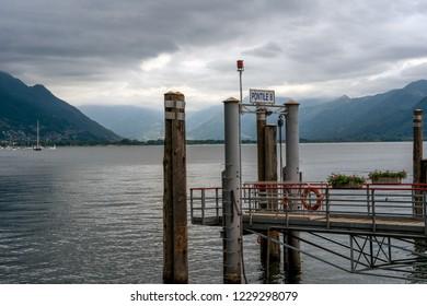 Pontile 8 - Jetty in Locarno at the Lake Maggiore