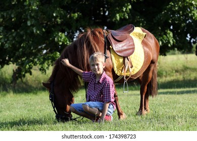 pony horse and boy