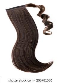 Pony tail dark brown hair piece