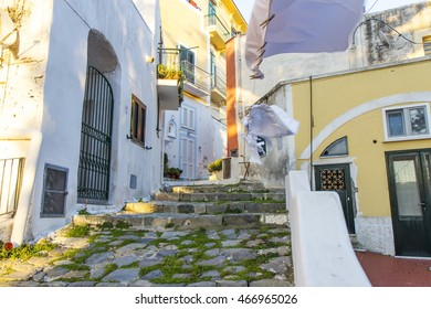 Ponza italy island street typical