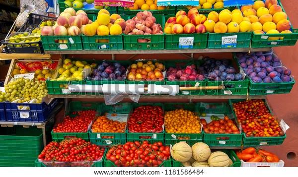 Ponza Italy September 16 2018 Fruit Stock Photo (Edit Now