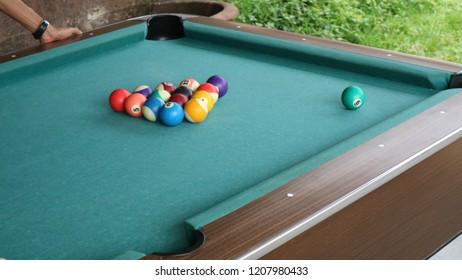 pool balls area