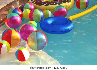 Pool party beach balls