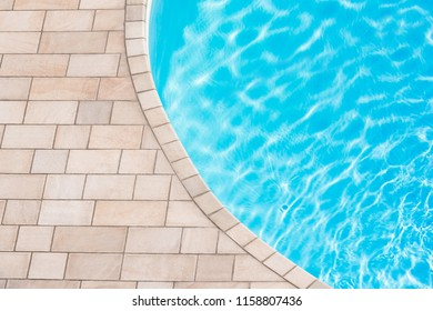 pool with reflection, top view