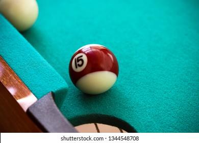 Pool table and ball