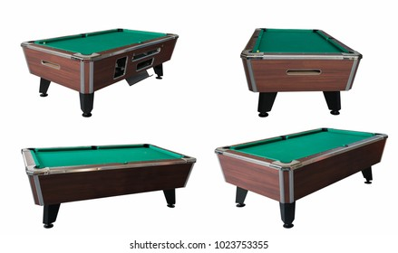 Pool table isolated.
