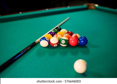 pool table with props