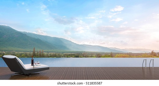 Pool Terrace and Mountain View/Pool Terrace overlooking the beautiful mountain views fully.