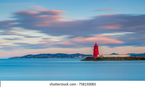 Poolberg lighthouse in Ireland, Dublin bay