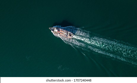 Poole aerial boat scene vessel