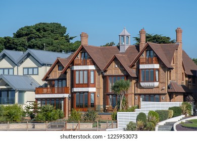 Poole Dorset UK - 20 October 2018:  Luxury House at Sandbanks Poole