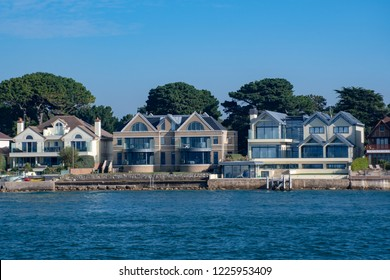Poole Dorset UK - 20 October 2018:  Luxury Houses at Sandbanks Poole