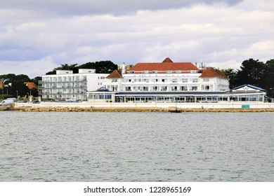 Poole, Dorset, UK. October 01, 2014.  The Haven Hotel in a prime location on the seafront of Sandbanks in Poole harbor, Dorset, UK.