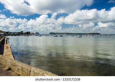 Poole Harbour from Sandbanks Dorset England UK Europe