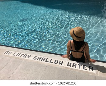Poolside Girl Shallow Water
