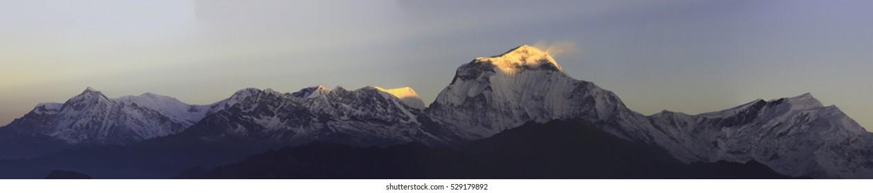 Poon Hill view point, round Annapurna circuit trekking trail, Ne