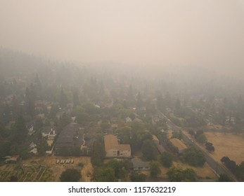 Poor air quality from forest fire smoke