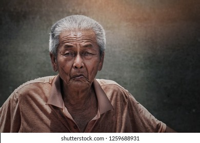 Image of: Older Poor Chinese Old Man In Close Up Shot With Wrinkles On His Face And Concrete As Shutterstock Poor Old People Stock Photos Images Photography Shutterstock