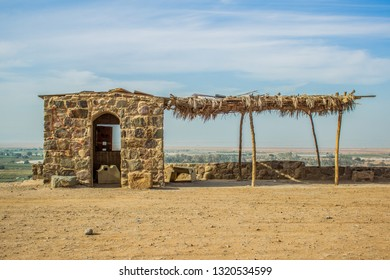 poor ghetto small stone village house building in Middle East part of Earth, third world country environment concept photography