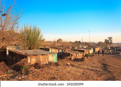 The poorest part of Soweto - South West Township in Johannesburg ,South Africa. SOWETO is the most populous black urban residential area in the country, with a population of around a million