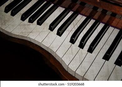 Pop art Electronic musical keyboard synthesizer close-up
