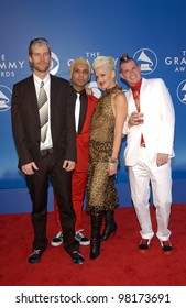 Pop group NO DOUBT with lead singer GWEN STEFANI at the 2002 Grammy Awards in Los Angeles.