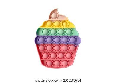 Pop It Push Bubble Sensory. Antistress. Toy icon, trend
