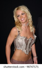 Pop star BRITNEY SPEARS at party in West Hollywood for the launch of *NSync's new album Celebrity. 23JUL2001  Paul Smith/Featureflash