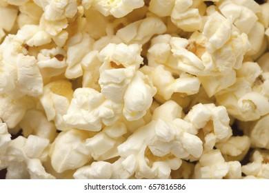 Popcorn background closeup