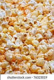 popcorn background close-up