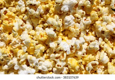 Popcorn Background Close-up - Popped and Fresh