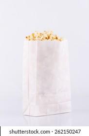 Popcorn bag isolated on white background