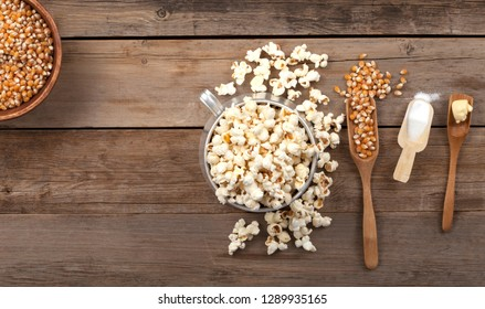 popcorn bowl over wooden table