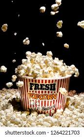 Popcorn and box