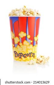Popcorn bucket isolated on a white background