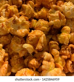 Popcorn coated in sugary caramel.