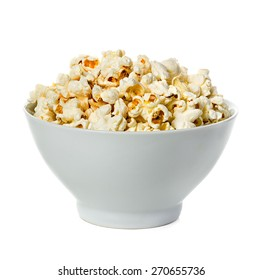 Popcorn isolated on a bowl
