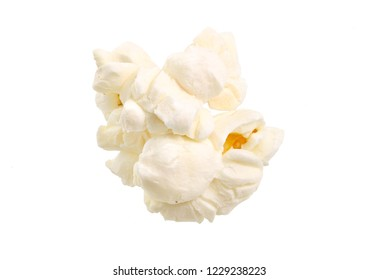 Popcorn isolated on a white background. Full depth of field.