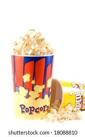 popcorn isolated over white