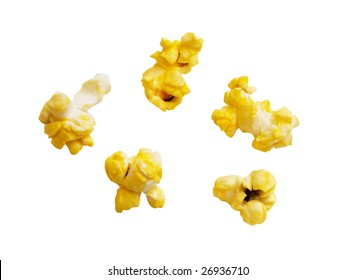 Popcorn kernels with clipping path.
