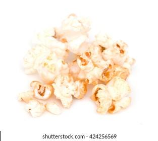 popcorn on a white background