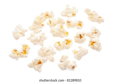 popcorn on white background