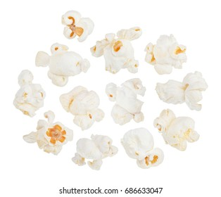 Popcorn set isolated on white background