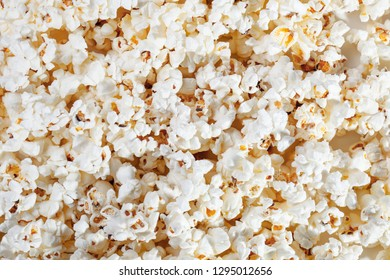 popcorn texture background, group of salted popcorns