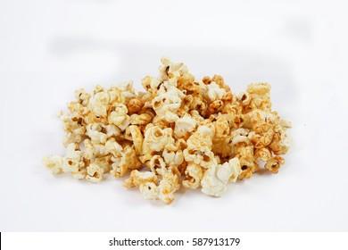popcorn in white background