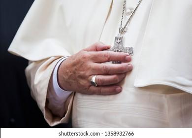 Pope Francis, visiting the Ejmiadzin․ Armenia. Ejmiadzin. June 26, 2016