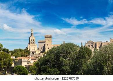 Popes Palace in Avignon in a beautiful summer day, France