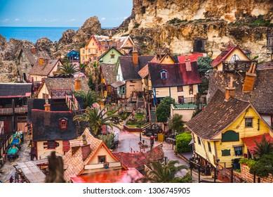 Popeye Village (Danish Village), Malta, Mellieha